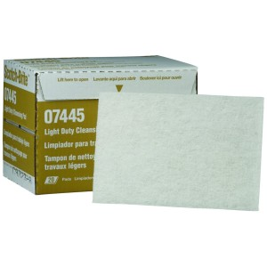 3m 07445 Scotch Brite Light Duty Cleansing Pad White