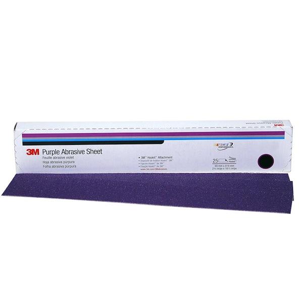 3m 01791 Purple Hookit Hook Amp Loop File Sheet 80 Grit 2 3 4 Inch X 16 1 2 Inch 25 Pack